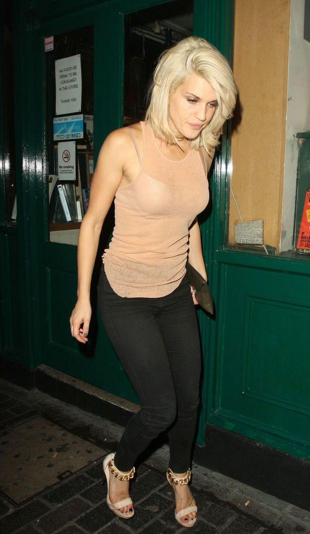 Ashley Roberts leaves The Box nightclub in London 25/09/13