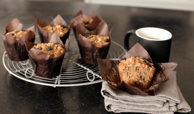 Oat and raisin muffins recipe by Edd Kimber