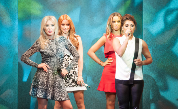 The Saturdays perform at the 2013 Birmingham Fashion Show, 28 Sept 2013