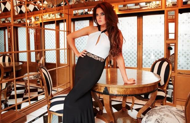 Binky Felstead for Lipstick Boutique - wearing Belgravia dress, £95