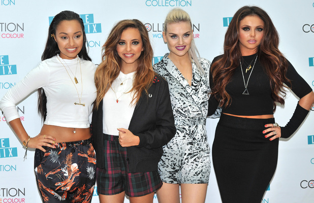 Perrie Edwards, Jade Thirlwall, Jesy Nelson, Leigh-Anne Pinnock - Little Mix launch their make-up range with Collection - Photocall held at The May Fair Hotel