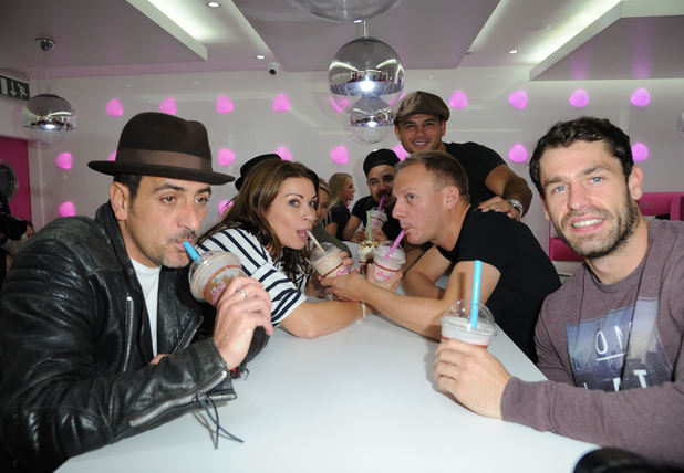 Sacha Parkinson, Brooke Vincent, Ryan Thomas, Chris Gascoyne, Kelvin Fletcher, Alison King, Antony Cotton - 23.9.2013 Celebrities from Coronations Street and Emmerdale arrive for the Opening of Archies Burgers and Shakes Oxford Road Manchester