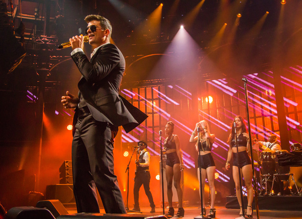 Robin Thicke performs at the iTunes festival on Tuesday 24 September 2013