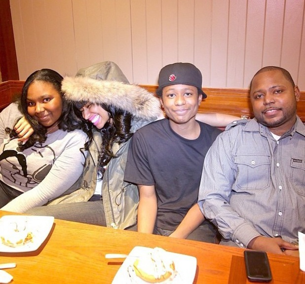 Nicki Minaj and brothers Jelani and Micaiah. - Sept 2013
