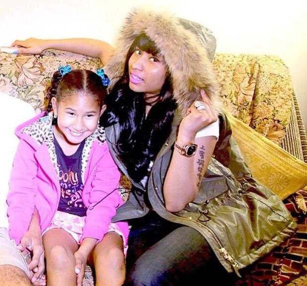 Nicki Minaj and little sister Ming - Sept 2013