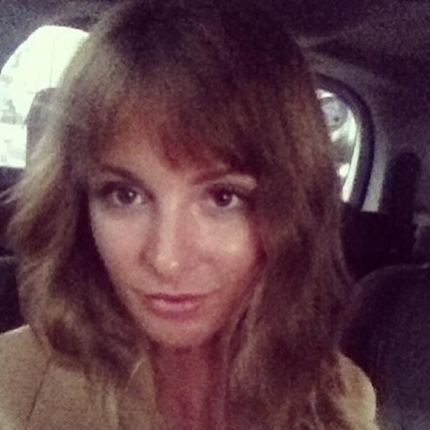 Millie Mackintosh shows off her new fringe on Instagram, 22 September 2013