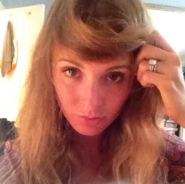 Millie Mackintosh debates a fringe cut on Instagram, 22 September 2013