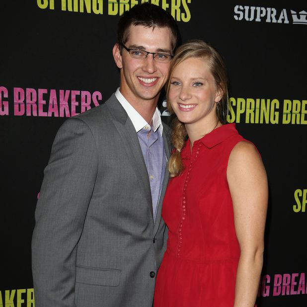 Heather Morris and Taylor Hubbell at the 'Spring Breakers' film premiere, Los Angeles, America - 14 Mar 2013