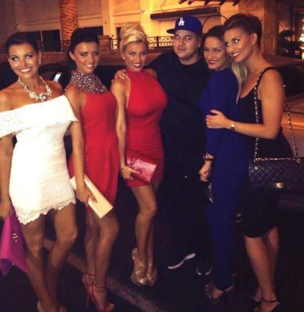 TOWIE girls meet Rob Kardashian in Las Vegas - 26 September 2013