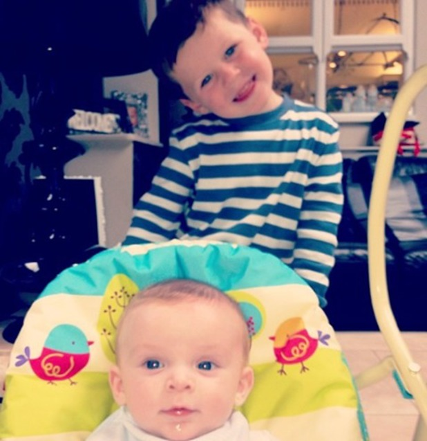 Coleen Rooney shares a new picture of her sons Kai and Klay - 24 September 2013