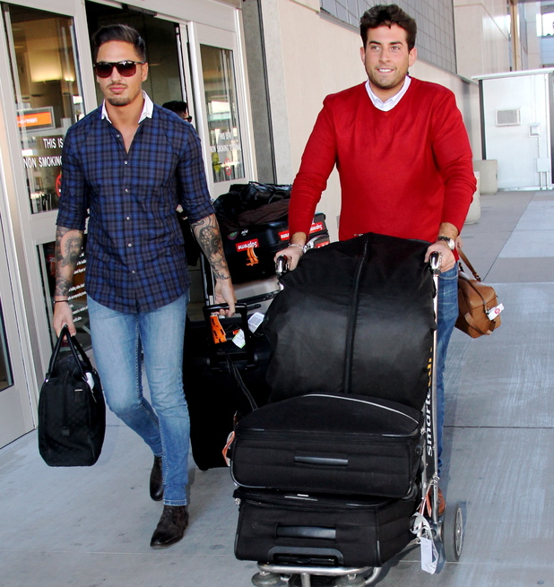Joining other cast mates, Joey Essex, Jess Wright, James Argent, Lauren Pope, and more flew into Las Vegas to begin filming for their show Towie - 22 September 2013