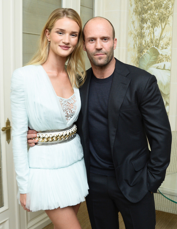 Rosie Huntington-Whiteley and Jason Statham at Balmain Show after party, Spring Summer 2014, Paris Fashion Week, France - 26 Sep 2013