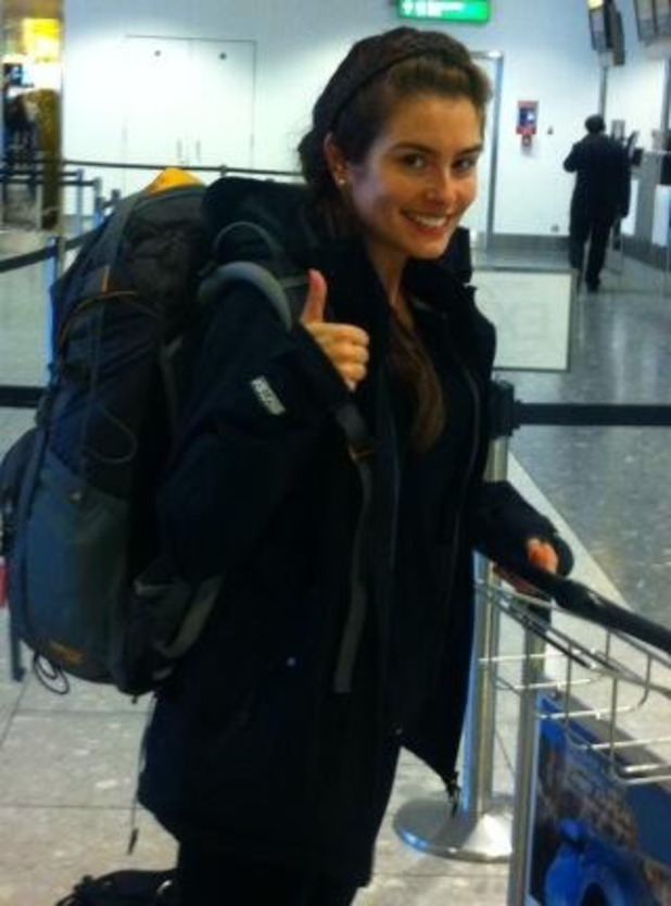 Rachel Shenton before climbing Mount Kilimanjaro - September 2013