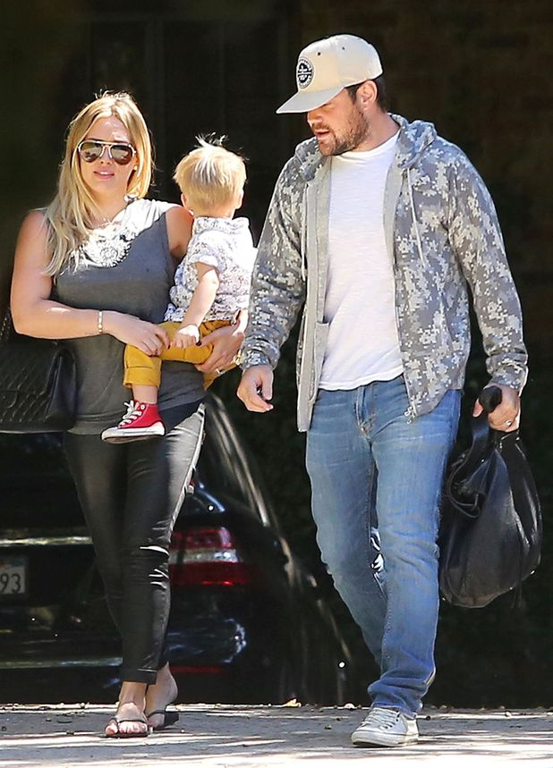 Hilary Duff, Mike Comrie and Luca Comrie Los Angeles, America - 26 Sep 2013