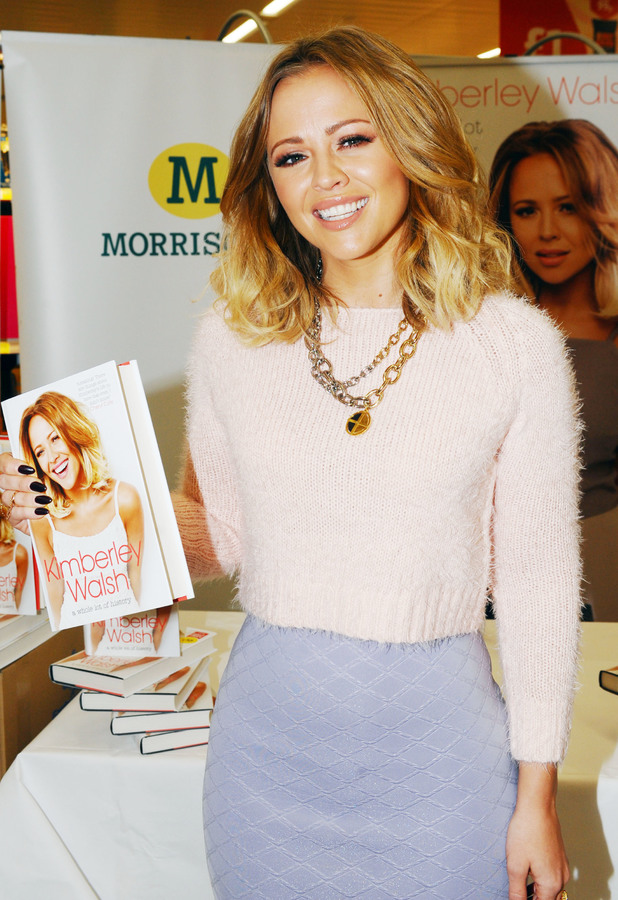 Kimberley Walsh launches her autobiography 'A Whole Lot Of History' at Morrisons in Bradford