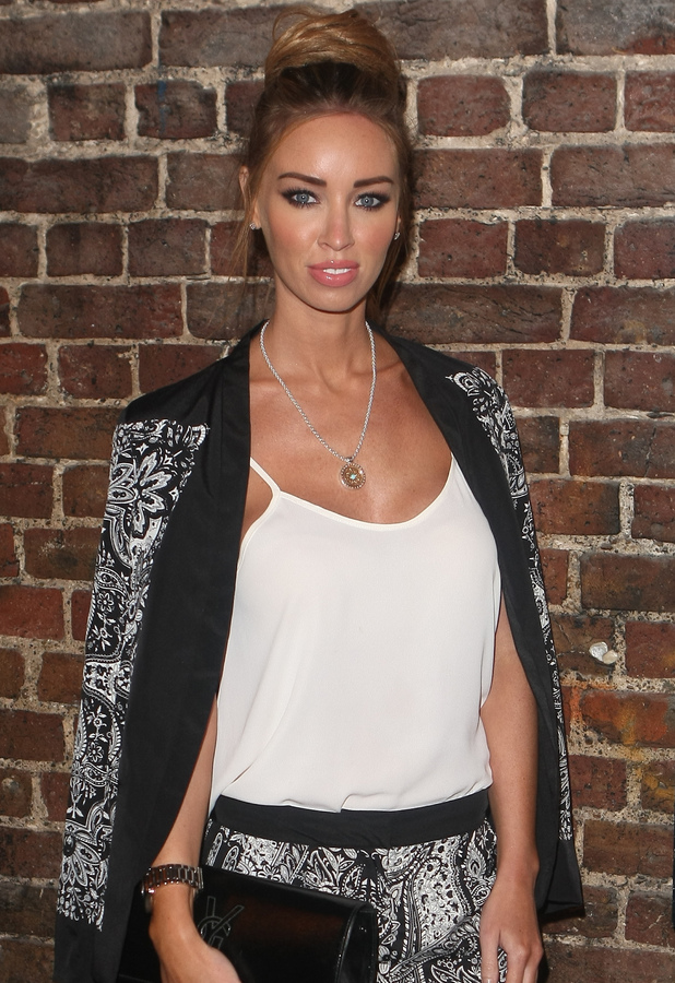 Lauren Pope arriving at WAG the musical, London - 08/13/2013