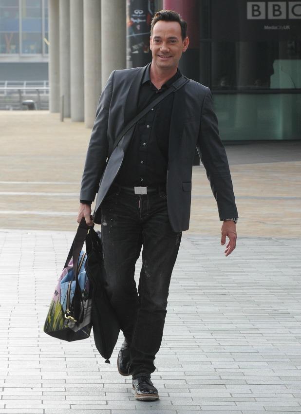 Craig Revel Horwood after appearing on BBC Breakfast, Media City, Manchester, 24 September 2013