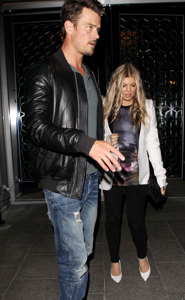 Josh Duhamel and Fergie out for dinner at The Hakkasan Restaurant, Los Angeles, America - 25 Sep 2013