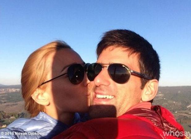 Novak Djokovic announces engagement to Jelena Ristic, 25 September 2013