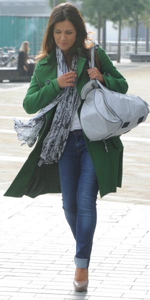 Susanna Reid, after appearing on BBC Breakfast, Media City, Manchester, 24 September 2013