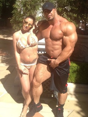 Jodie Marsh and bodybuilder Zack King Khan in Las Vegas - 2 October 2013