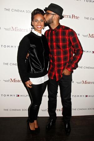 'The Inevitable Defeat Of Mister and Pete' Cinema Society film screening, New York, America - 02 Oct 2013 Alicia Keys, Swizz Beatz