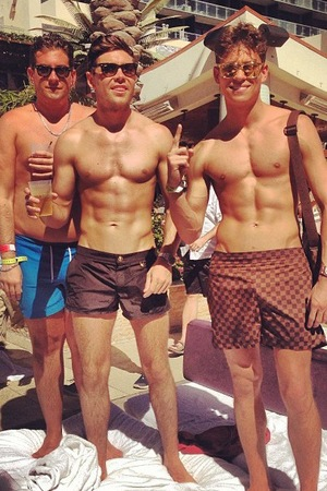 TOWIE's Joey Essex, James 'Arg' Argent and Tom Pearce in Las Vegas