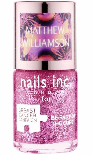 Nails Inc Pinkie Pink Polish by Matthew Williamson for Breast Cancer Awareness Month 2013