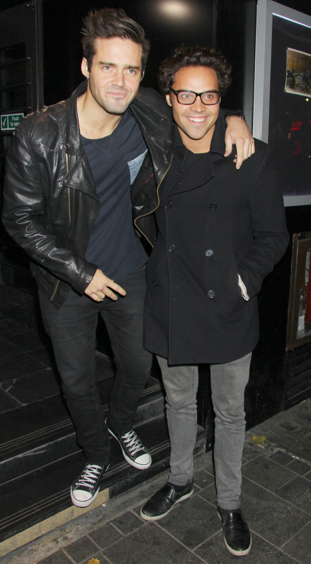 Made In Chelsea's Spencer Matthews and Andy Jordan at the afterparty for the UK premiere of 'Filth' held at INK 10/01/2013 London, United Kingdom