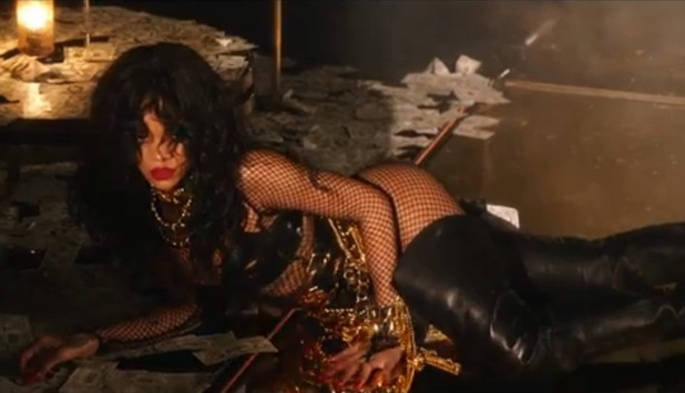 Screenshot from Rihanna's 'Pour It Up' official music video - 2013