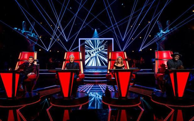 The Voice coaches- Sir Tom Jones, will.i.am, Kylie Minogue and Ricky Wilson.