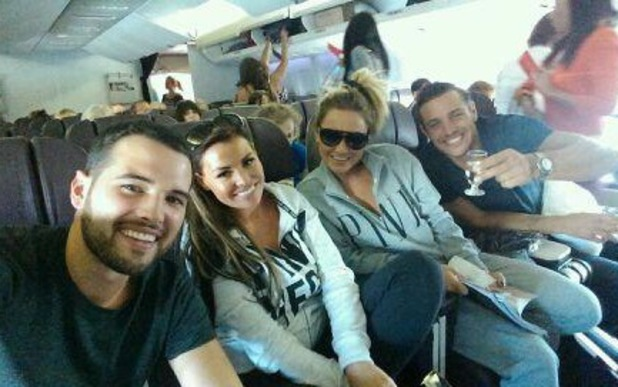 TOWIE's Ricky Rayment, Sam Faiers, Jessica Wright and Elliot Wright land in UK after Las Vegas trip - 2 October 2013