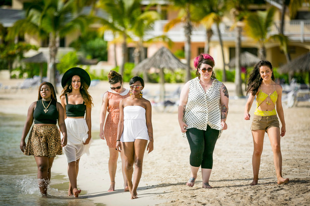 X Factor girls in Antigua X Factor Judges House Guests