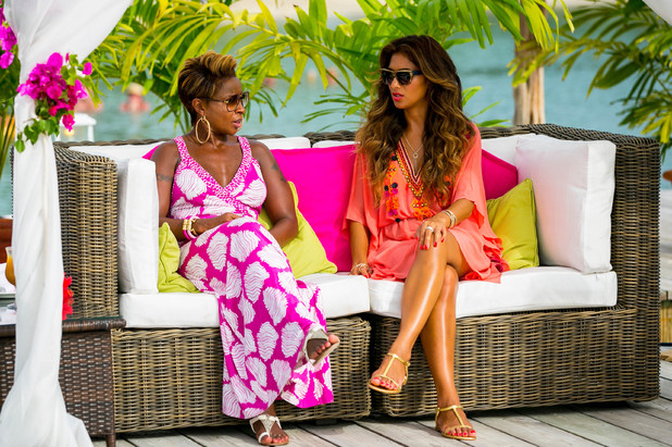 Nicole Scherzinger and Mary J Blige at X Factor judges' houses 2013