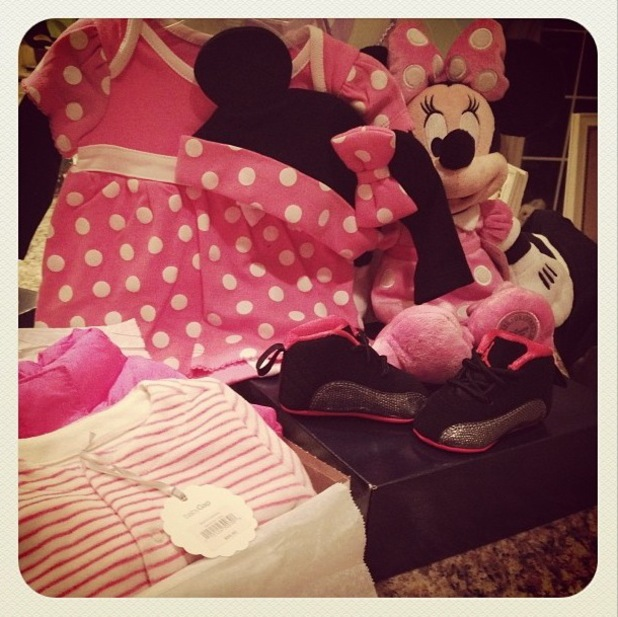 Danielle Jonas shares a picture of her unborn daughter's pink clothes and toys - 29 September 2013