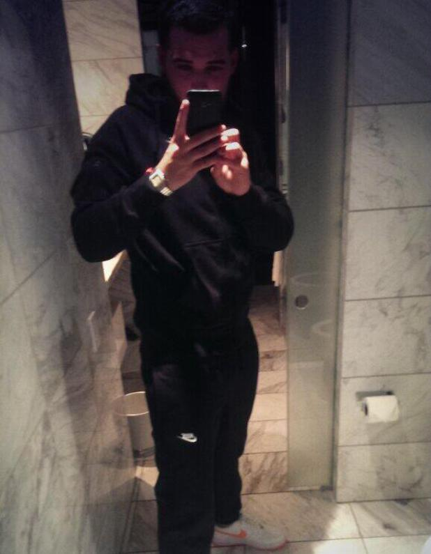 TOWIE's Ricky Rayment in a tracksuit before leaving for Vegas