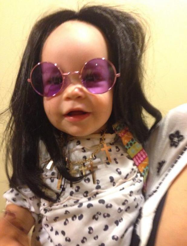 Jack Osbourne's daughter Pearl dresses as granddad Ozzy Osbourne - 4 October 2013