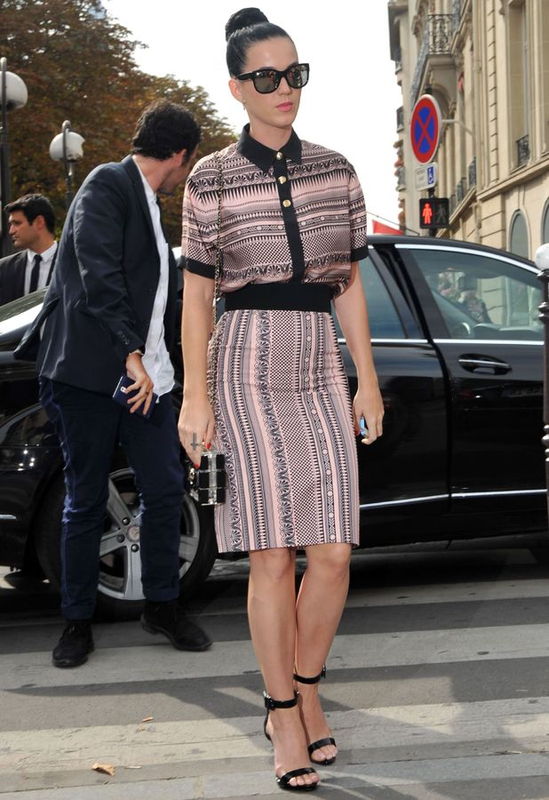 Katy Perry at at L'Avenue restaurant in Paris, France - 01 Oct 2013