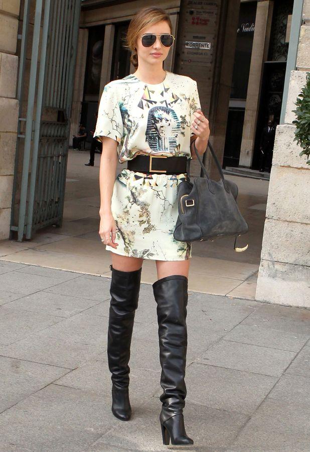 Miranda Kerr at Paris Fashion Week, France, 2 October 2013