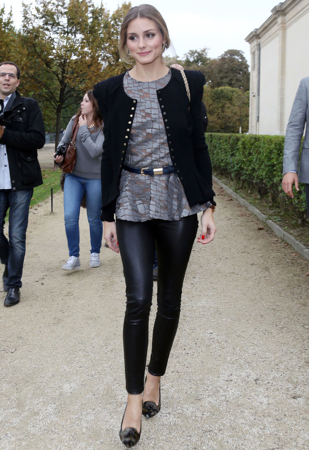 Olivia Palermo at the Elie Saab show, Spring Summer 2014, Paris Fashion Week, France - 30 Sep 2013