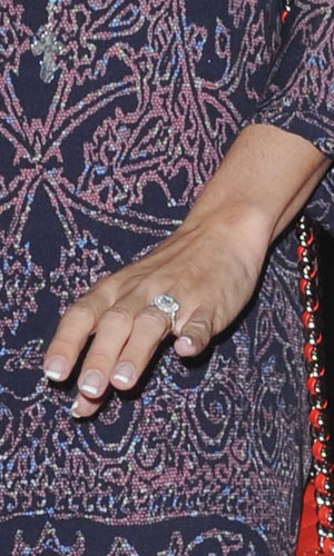 Ashley Tisdale flashes engagement ring at The Fourth Season Premiere of Walking Dead, LA, 3 October 2013