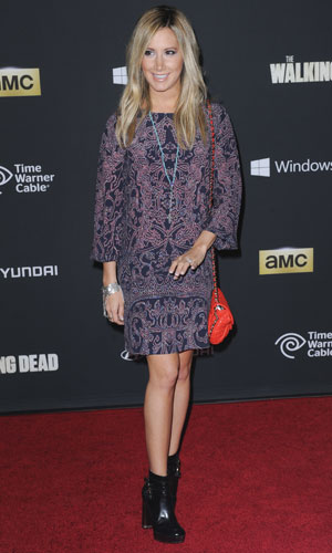 Ashley Tisdale, The Fourth Season Premiere of Walking Dead, LA, 3 October 2013