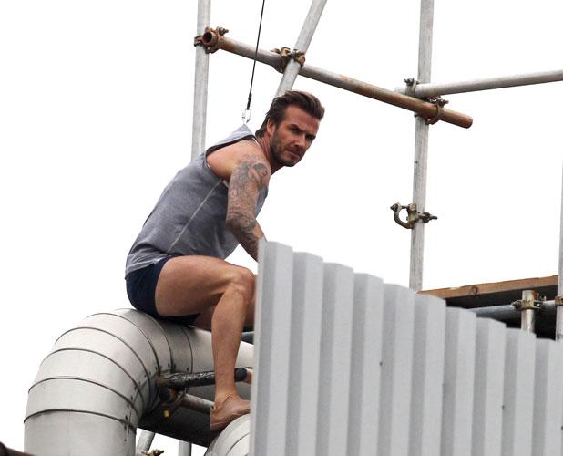 David Beckham films an H&M advert in London, 1 October 2013