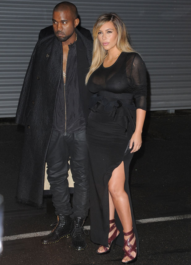 Kim Kardashian and Kanye West arrivals at the Givenchy Show during Paris Fashion Week, 29 September 2013