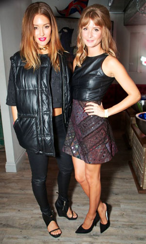 Millie Mackintosh and Erin McNaught at INK London, 3 October 2013