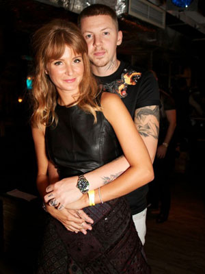 Professor Green and Millie Mackintosh at INK London, 3 October 2013