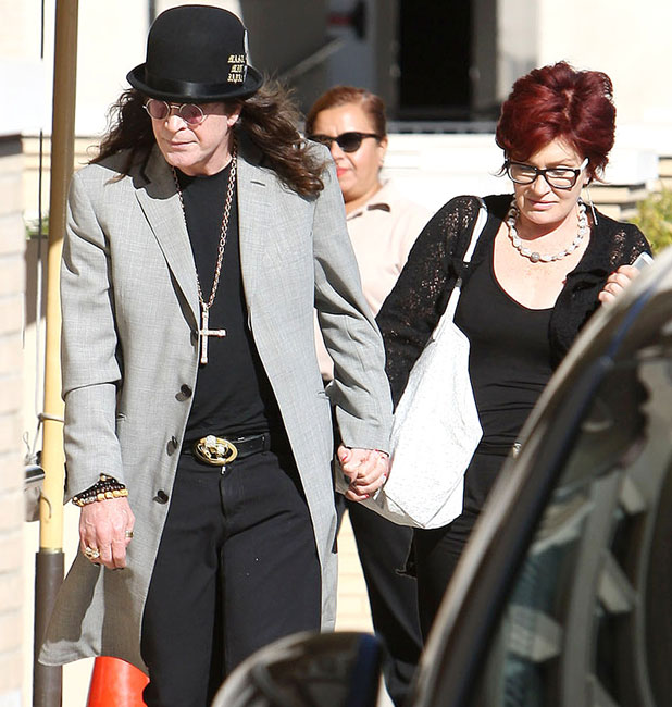 The Osbourne family out and about, Los Angeles, America - 29 Sep 2013 Ozzy Osbourne, Sharon Osbourne