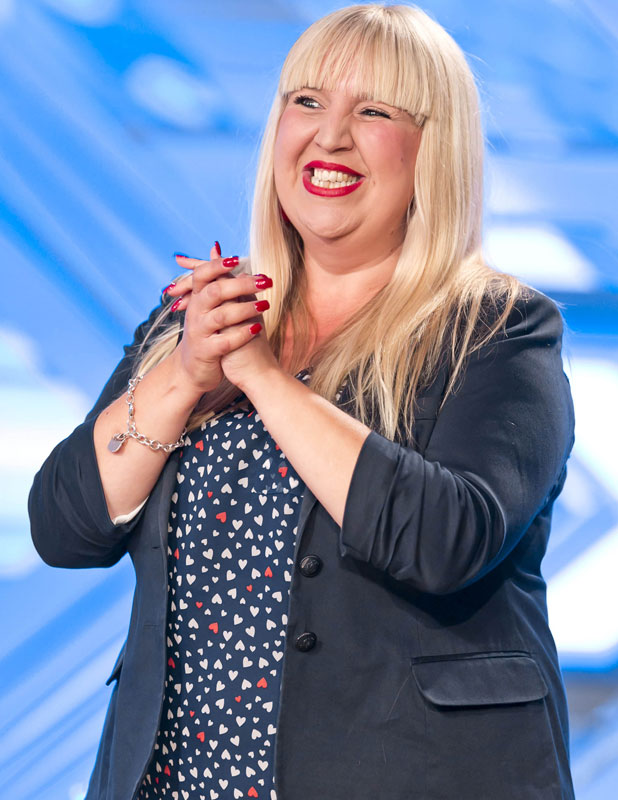 Shelley Smith auditioning at arena for X Factor, 2013