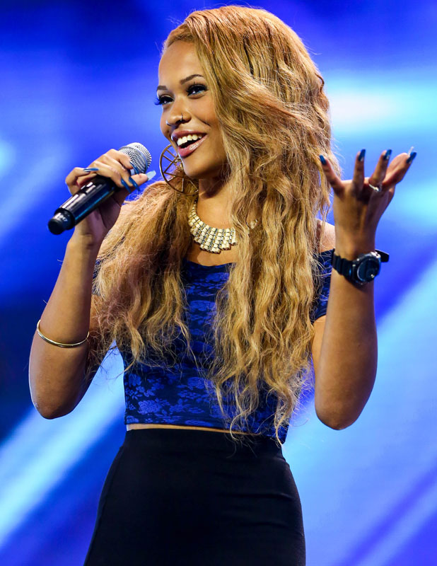 Tamera Foster auditioning at arena for X Factor, 2013