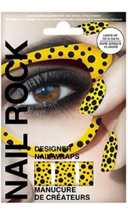 Nail Rock Nail Wraps in Seeing Spots Yellow
